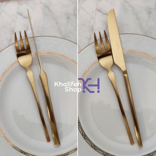 کارد و چنگال سه بعدی طلایی 270sf برند Versa