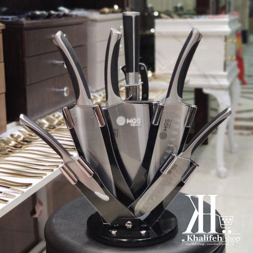 سرویس چاقوی آشپزخانه دسته مشکی MGS
