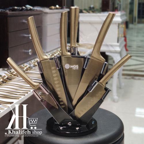 سرویس چاقو آشپزخانه طلایی MGS